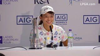 Download Hinako Shibuno Victorious at the 2019 AIG Women's British Open Video