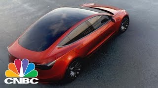 Download Elon Musk Shows Off The First Tesla Model 3 From Assembly Line | CNBC Video