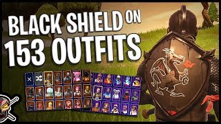 Download Black Shield Back Bling on 153 Outfits | Black Knight - Fortnite Cosmetics Video