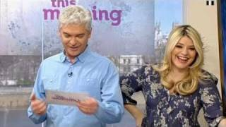 Download Phil laughs about uranus and Holly says HURRY UP on This Morning - 6th April 2011 Video