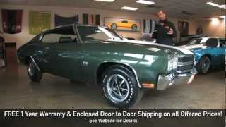 Download REAL LS6 1970 Chevrolet Chevelle SS 454 for sale with test drive, walk through video Video
