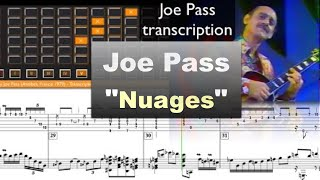 Download Joe Pass ″Nuages″ (Antibes, France 1979) - jazz guitar solo transcription video by Gilles Rea Video