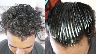 Download permanent hair straightening at home | mens permanent hair straightening step by step tutorial Video