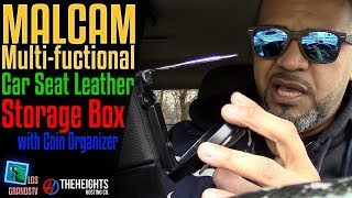 Download Malcam Multi-functional Car Seat Leather Storage Box : LGTV Review Video