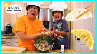 Download Kid Size Cooking Making Gyoza Japanese Dumpling with Ryan's Family Review!!! Video