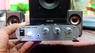 Download 20W 12V Super Bass Mini Hi Fi Stereo Amplifier Unboxing Video