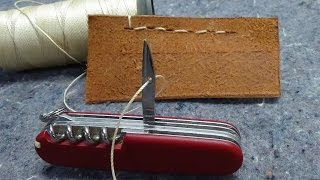 Download How to Sew with a Swiss Army Knife Awl / Reamer Video
