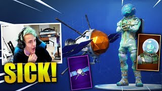 Download NINJA REACTS *NEW* LEVIATHAN SKIN + PLANETARY PROBE GLIDER - Fortnite Best & Funny Moments Video