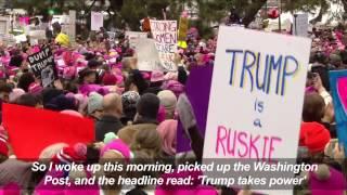 Download Michael Moore, Ashley Judd address Women's March in Washington Video