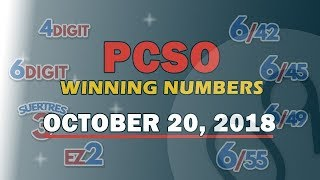 Download P45M Jackpot Prize Grand Lotto 6/55, EZ2, Suertres, 6Digit,Lotto 6/42 Draw | October 20, 2018 Video