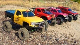 Download RC ADVENTURES - 4 SCALE RC 4x4 TRUCKS in ACTiON - on MARS? Nope - EARTH! TEAM W3RK! Video