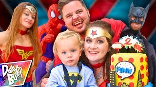 Download SUPERHERO BIRTHDAY PARTY SPECIAL! 💥 Finn's 2nd Birthday Party (w/ Super Surprise Guests!!) Video