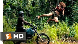 Download Jumanji: Welcome to the Jungle (2017) - Motorcycle Assault Scene (2/10) | Movieclips Video