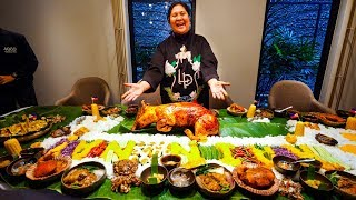 Download Meet the LECHON DIVA of the Philippines - FILIPINO FOOD Boodle Fight! Video