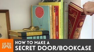 Download How to make a secret door / bookcase Video