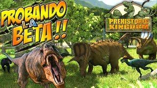 Download TIRANOSAURIOS, PIEDRAS COHETE Y GALLIMIMUS!!! Prehistoric Kingdom!! Video