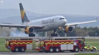 Download *EMERGENCY* Thomas Cook A330-200 Emergency Landing at Manchester Airport- 15/04/17 Video