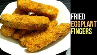 Download Crispy Eggplant Fingers Recipe | Fried Eggplant Recipe | Brinjal Fry | Snacks Recipe By Nian's Video