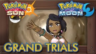Download Pokémon Sun and Moon - All Grand Trial Leader Boss Battles (Island Kahunas) Video