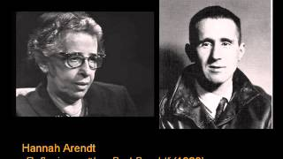 Download Hannah Arendt - Reflexionen über Bert Brecht (1969) Video
