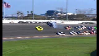 Download 2018 MENCS Daytona 500 Chase Elliott Hard Crash Video