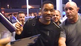 Download Will Smith Swarmed By Fans At LAX Video