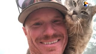 Download Cat Is So Grateful Firefighter Saved His Life   The Dodo Video