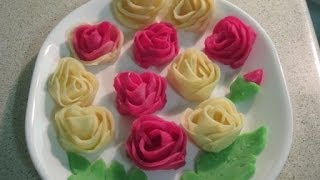 Download How to make rose flower pitha (gulap pitha) Video