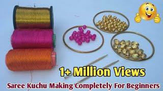 Download Very Easy Way To Make Saree Kuchu For Beginners | Latest Saree Kuchu / Saree Tassel Designs Video