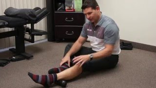 Download Rolling out achilles tendon and calf with lacrosse balls Video