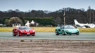 Download Chris Harris vs the Ferrari 488 Pista & McLaren 600LT | Top Gear Video