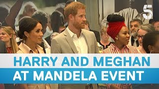 Download Prince Harry and Meghan Markle visit Nelson Mandela centenary exhibition - 5 News Video