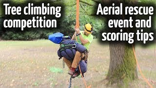 Download Aerial rescue training tool | Tree climbing competitions Video