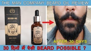 Download The Man Company Beard Oil Review After 30 Days | Growth Results | Unboxing Video