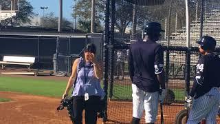 Download Yankees' CC Sabathia throws BP to hitters Video