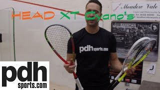 Download HEAD Cyano Graphene XT 110/ 120/ 135 squash rackets review by PDHSports Video
