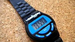 Download Black & Blue Smiggle talking wristwatch / watch with alarm sounds by Longwalkmouse Video