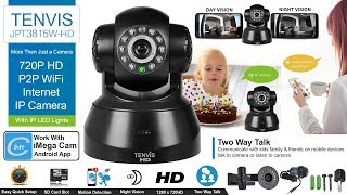 Download How to Set up TENVIS JPT3815W-HD 720P HD P2P WiFi Internet IP Camera With Mobile & Desktop Video