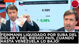 Download Feinmann liquidado por suba del dólar y del riesgo país, cuando hasta Venezuela lo bajó! Video