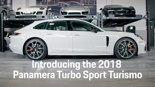 Download The 2018 Porsche Panamera Turbo Sport Turismo has arrived. Video