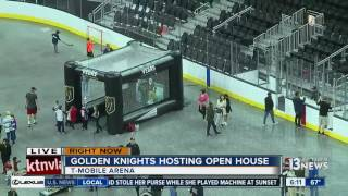 Download Open house lets Golden Knights fans preview their seats Video