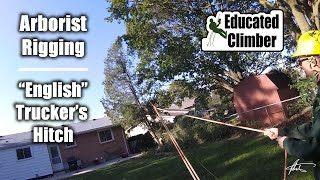 Download ″English″ Trucker's Hitch in Action | Arborist Rigging | Pulling Power Video