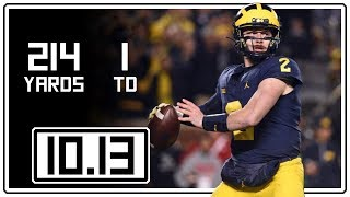 Download Shea Patterson Full Highlights Michigan vs Wisconsin || 10.13.18 || 214 Total Yards, 1 TD Video