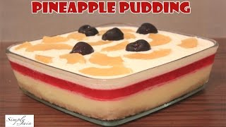 Download Multi Layered Pineapple Pudding | How To Make Pudding | Christmas Dessert | Simply Jain Video