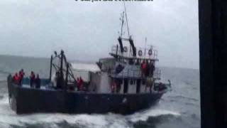 Download Romanian coast guard sank a vessel of Turkish poachers in Black Sea Video