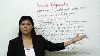 Download Conversational English - How to make polite requests Video