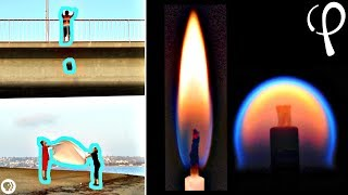 Download FIRE IN FREEFALL - rare physics experiment Video
