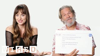 Download Dakota Johnson & Jeff Bridges Answer the Web's Most Searched Questions   WIRED Video