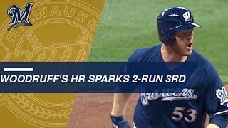 Download Woodruff's homer off Kershaw keys two-run 3rd inning Video