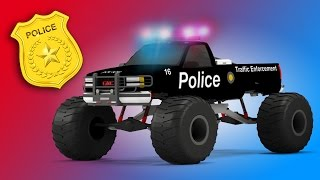 Download Police Monster Truck | 3D Video for Kids | Educational Video for Children | Rescue City Heroes Video